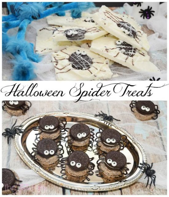 Halloween spider treats in two different ways