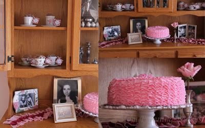 pink ruffle cake pictures