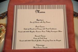 Foodie Friday: Formal Dinner Menu