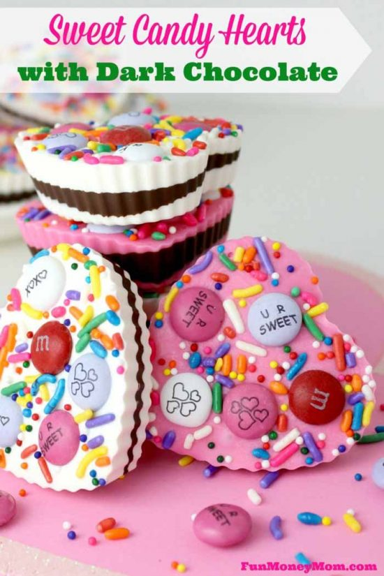 Valentine's Day Treats: Candy Hearts with Dark Chocolate