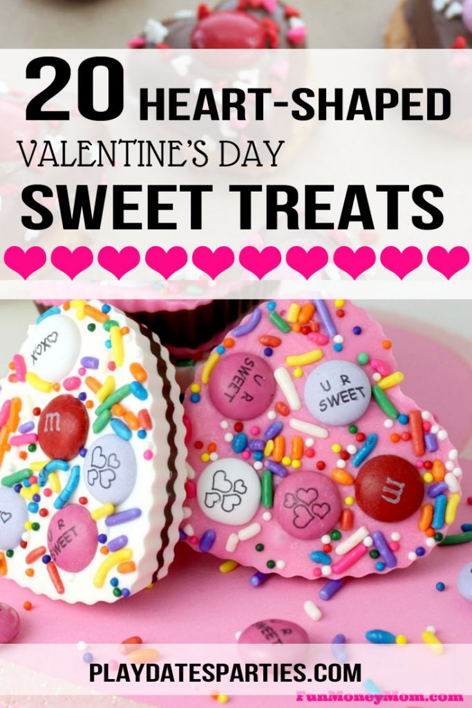 I'm always looking for cute and easy Valentine's Day treats to make with my kids. And this list of 20 desserts is just the BEST. The chocolate bark is adorable and so simple, but then again, that cake and those heart shaped chocolates with sprinkles would be perfect for a party! Seriously, there are so many fun ideas here, you won't have any problem wondering what to send to school.  #Valentinesday #chocolate #desserts