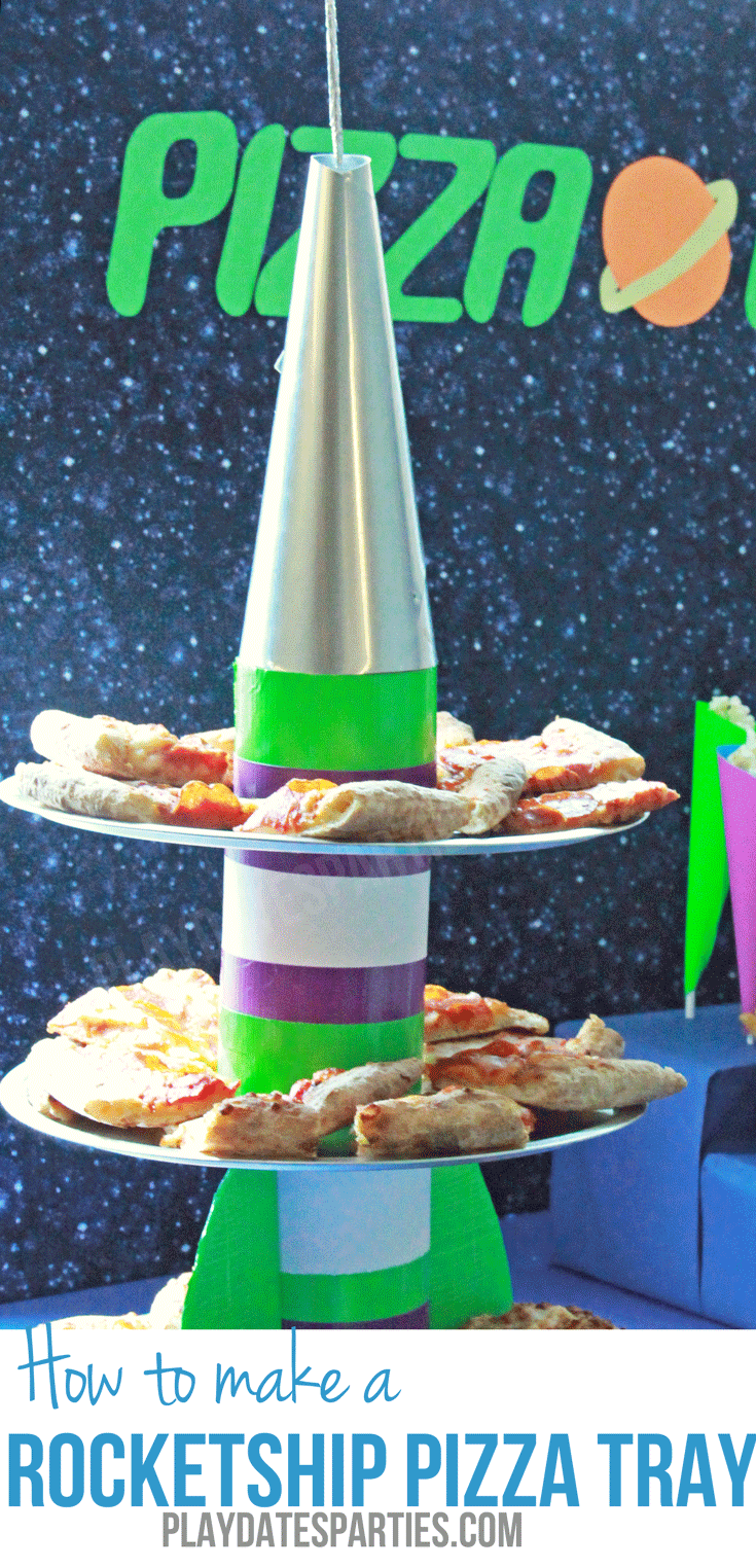 Learn how to make a rocketship pizza tray using inexpensive materials that can mostly be found around the house.