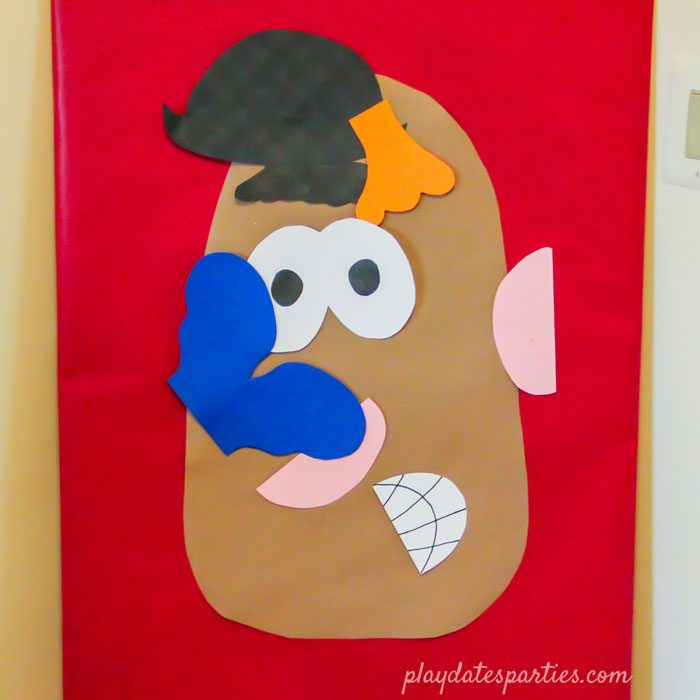 Mr Potato Head game at a Toy Story party