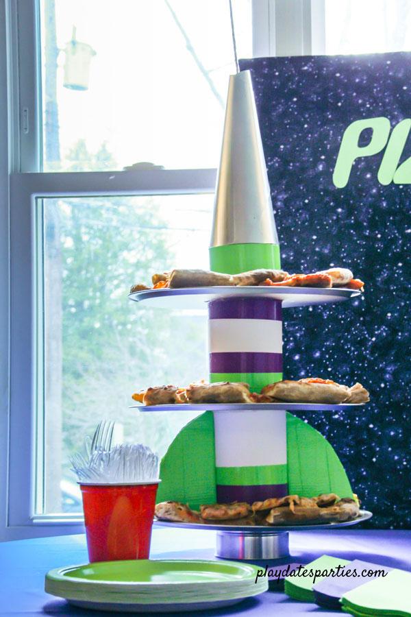 rocket ship party tray