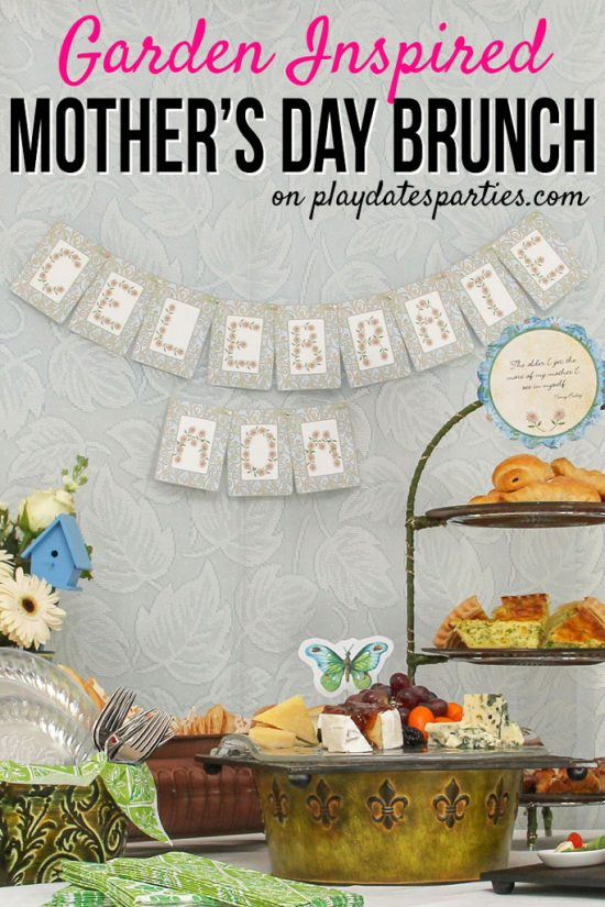 Garden Inspired Mother's Day Brunch Ideas