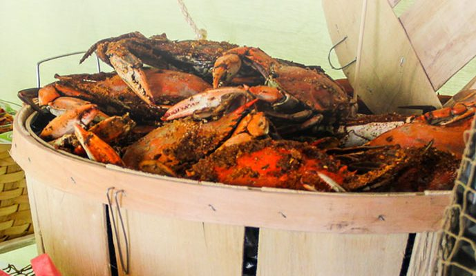 A Bright and Colorful Father's Day Crab Feast