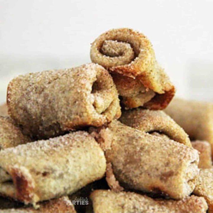 Mini Cinnamon Roll Bites (No Dough Required)
