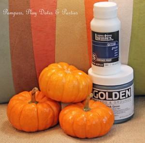 {Tutorial} Gesso Pumpkins