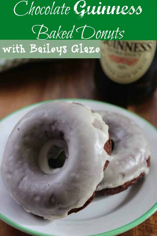 Chocolate Guinness Baked Donuts with Baileys Glaze at The Frugal Navy Wife