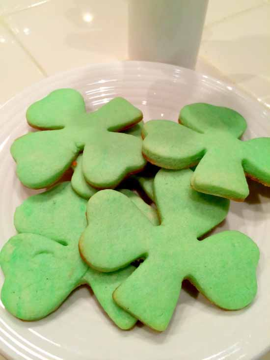 Shamrock Cream Cheese Cookies at Organized Island