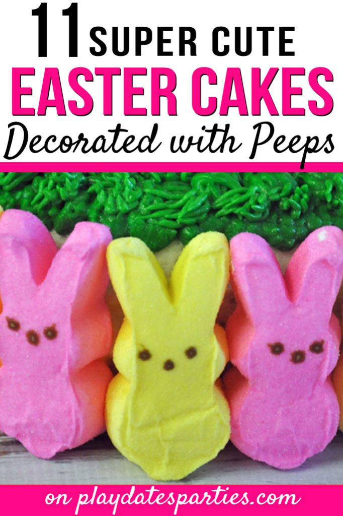 Your kids will call you the best mom on the block when you make an awesome Easter Peeps cake like these. The best part? All of these ideas are so easy to pull together. Keep it simple by displaying the rabbit Peeps, or have fun by arranging your bunnies and chicks to create something completely new.