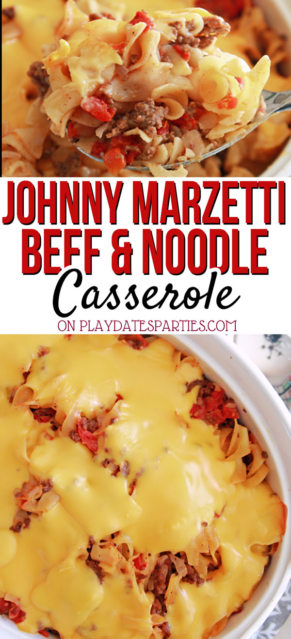 Johnny Marzetti is one of those simple casserole meals you just crave. It's one of my favorite quick and easy dinner recipes to make for the family, especially when I double the recipe and have an extra make-ahead freezer meal out of it. With few ingredients, like ground beef, noodles, and cheese, this is just one of the best, yummy meals kids and adults love!#recipes #recipes #dinnerrecipes #pasta #groundbeef