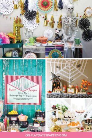 Collage of Halloween parties