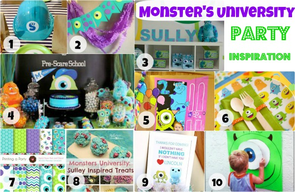 If your kid loves Monster's Inc and Monster's University, you need to see this collection of Monster's Inc party inspiration.