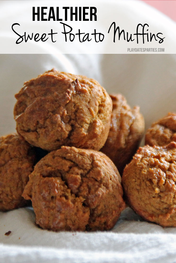 Sneak some extra nutrition and fiber into your kids' diets with this delicious - and easy- healthy sweet potato muffins recipe.