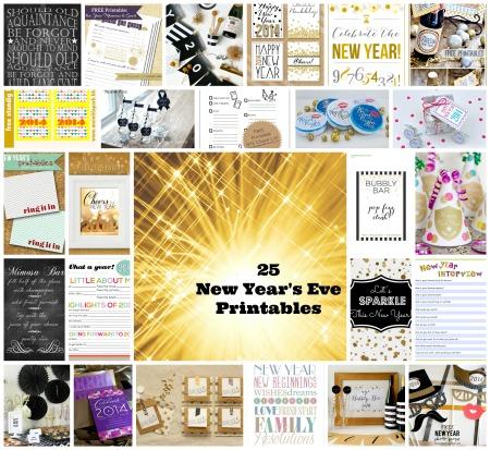 NYE Printables Collage