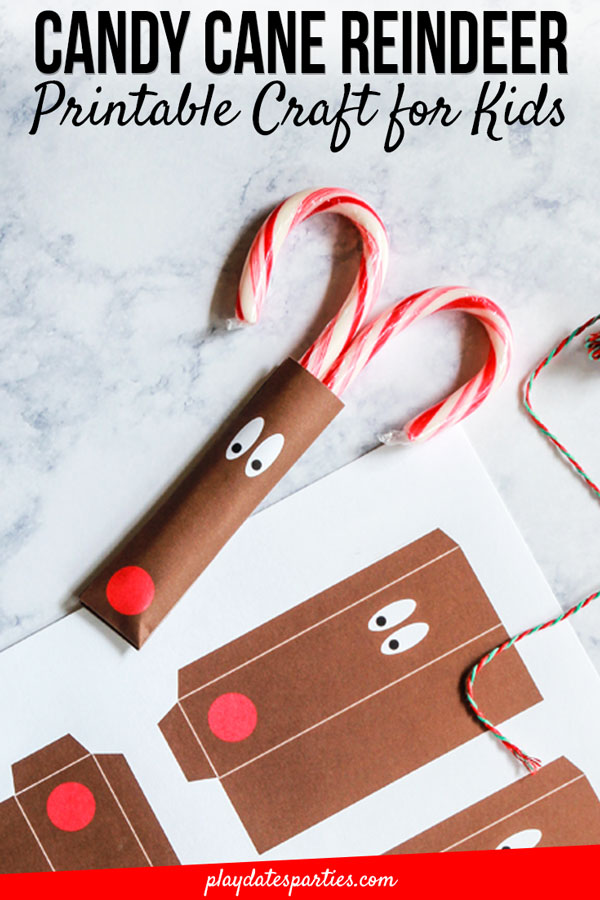 I'm always looking for cute gifts for kids to take to the classroom as Christmas gifts for classmates. But, most importantly it has to be simple. And this free printable reindeer candy cane craft fits the bill perfectly. There's a version perfect for preschool gifts, when we know mom is the one actually making the gifts for her toddler. But then there's also a blank copy that is perfect for children to adapt and to make their own. It's fun for all! #preschoolers #toddleractivity #Christmasgifts