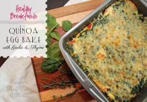 {Recipes} Quinoa Egg Bake