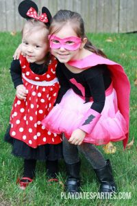Our Homemade Minnie Mouse and DIY Superhero Costume