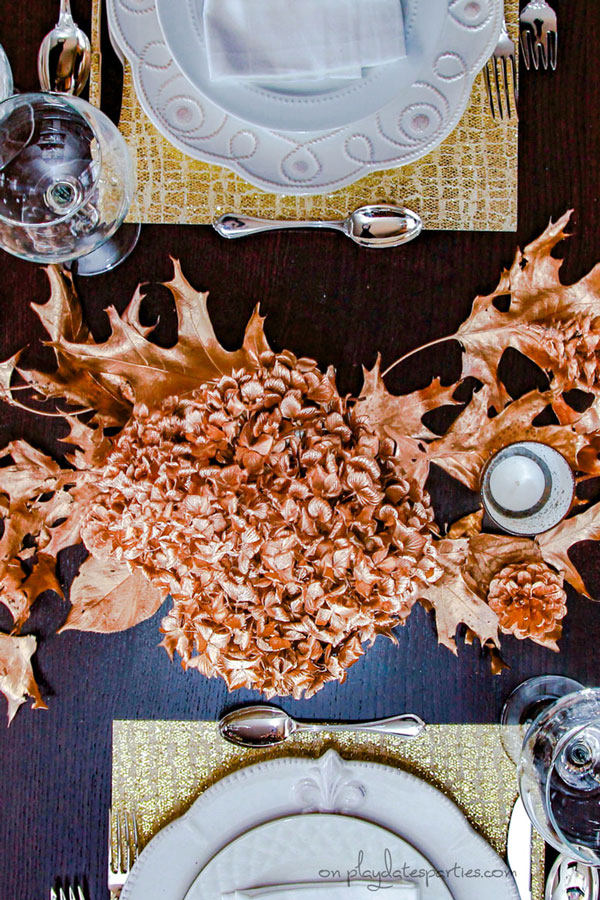 Gold Thanksgiving Decor Ideas...on a Budget!