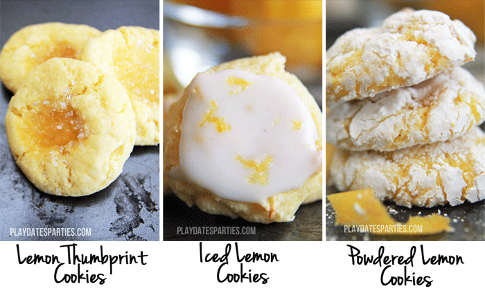 Three different lemon cookies all from one easy dough!