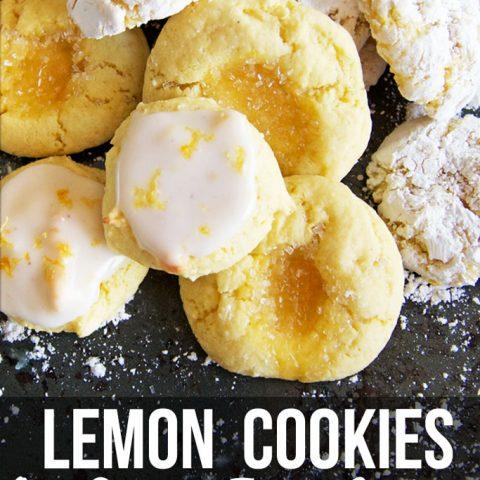 Lemon Cake Mix Cookies - Three Ways