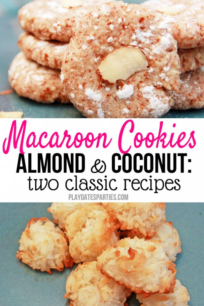 Did you know that macaroons were originally made with almonds instead of coconut? Take a look at the comparison of a coconut macaroons recipe vs an almond macaroons recipe. Which do you think was better?
