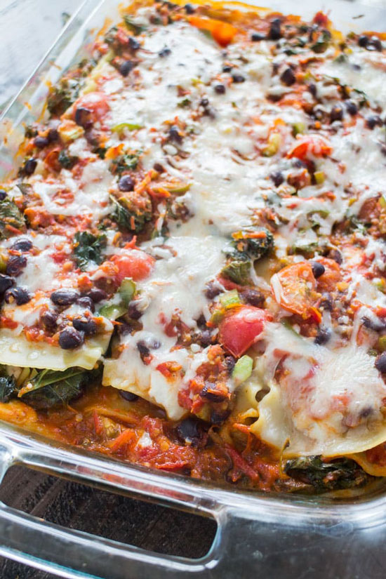 Mexican Vegetarian Lasagna by Brooklyn Farm Girl