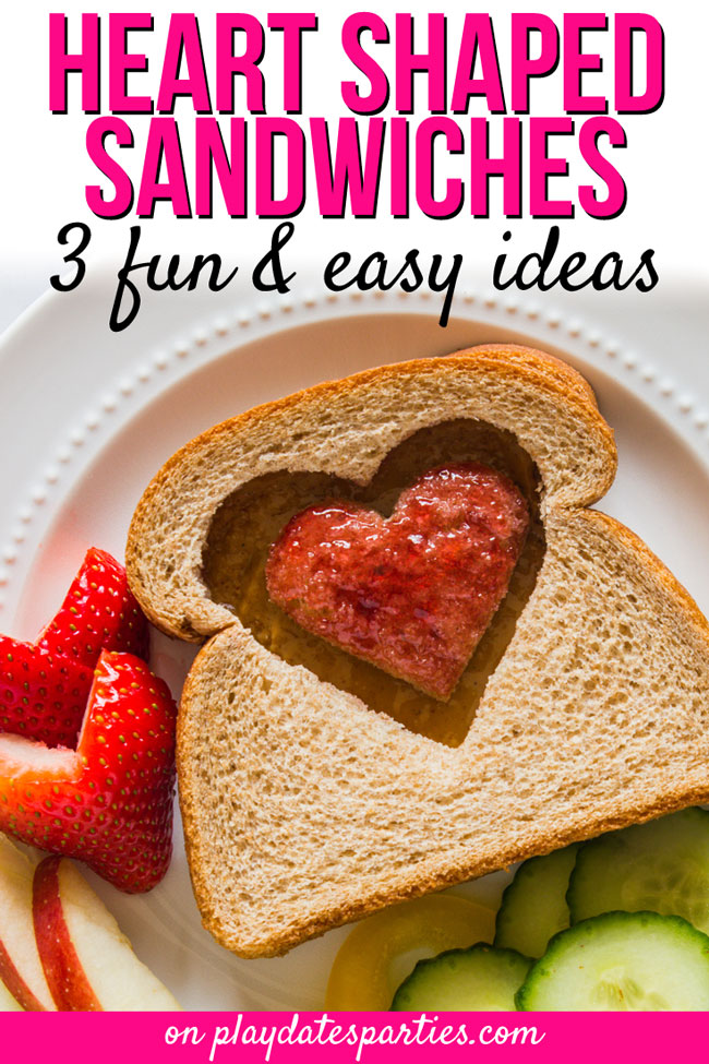 Heart shaped food is so much fun to make for kids. And you don't have to get complicated with your recipes either. Learn how to make three easy heart shaped sandwiches that are perfect for a Valentine's Day party, or as a special lunch or dinner just to show your love. Don't forget to check out the tips for getting the best cut every time, too! #easyrecipes #ValentinesDay #kidslunch