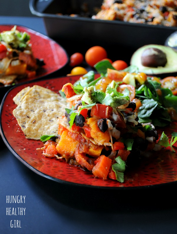 Hungry Healthy Girl - Sweet Potato Black Bean Casserole