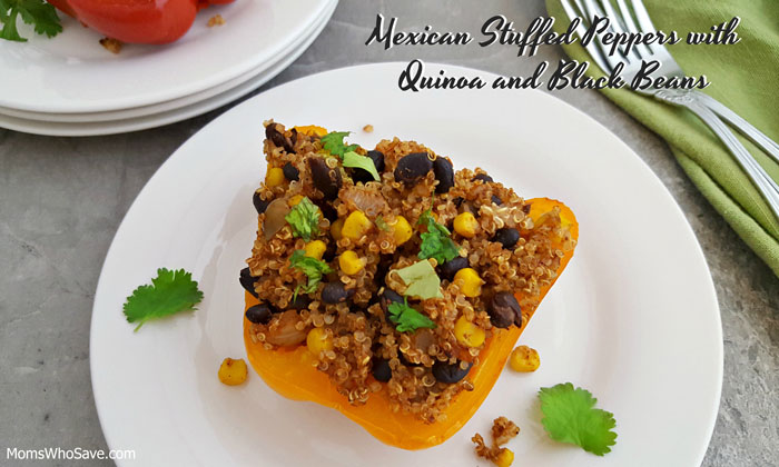 Mexican Stuffed Peppers with Quinoa and Black Beans by Moms Who Save