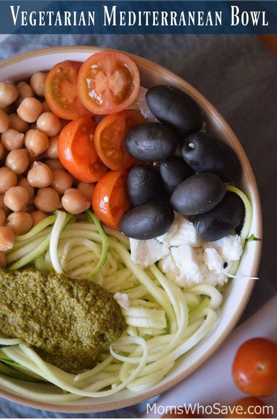 Healthy Vegetarian mediterranean bowl