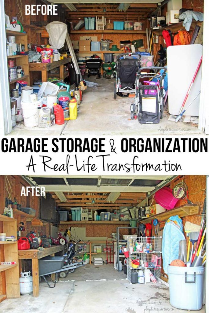 After an extensive re-organization of a cluttered garage, learn the unique garage organization tips that kept this garage organized for over two years.