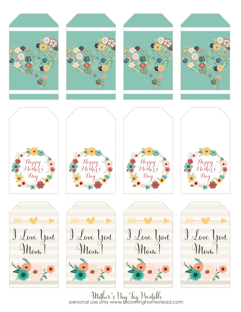 Blooming Homestead Free Printable Mothers Day Gift Tags