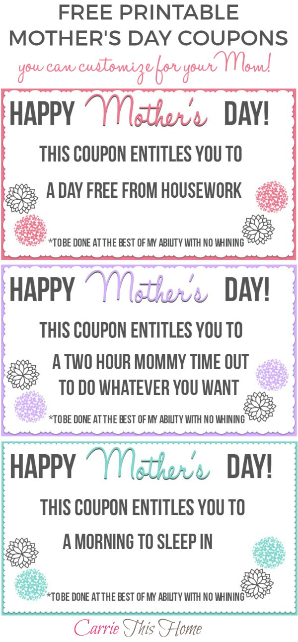 Carrie This Home Free Printable Mothers Day Coupons