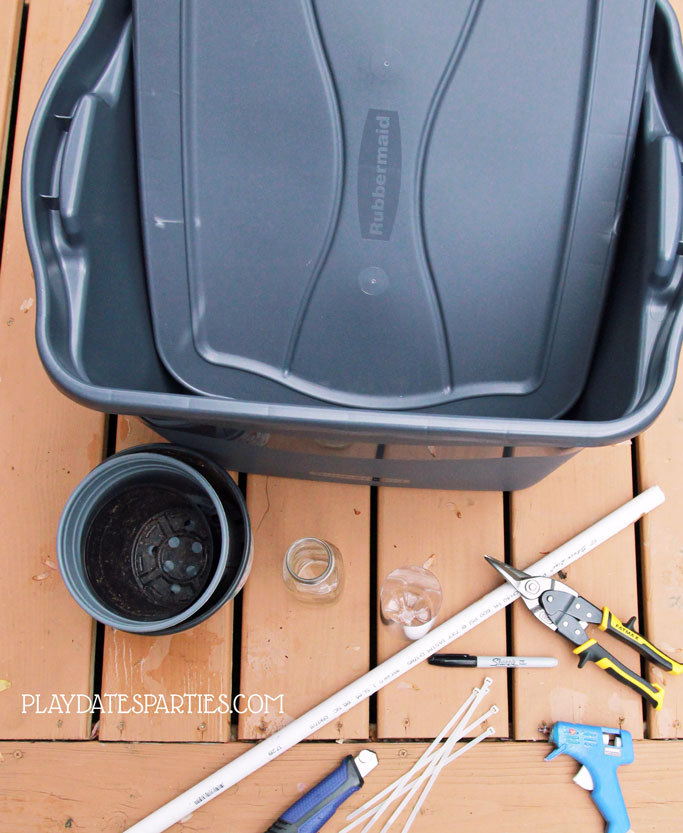 DIY Self Watering Planter Materials and Supplies