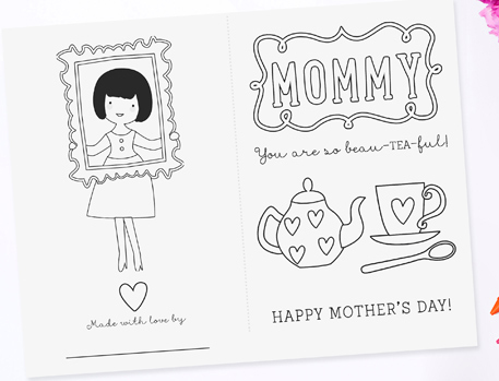 Pizzazzerie Free Mothers Day Printable Coloring Pages