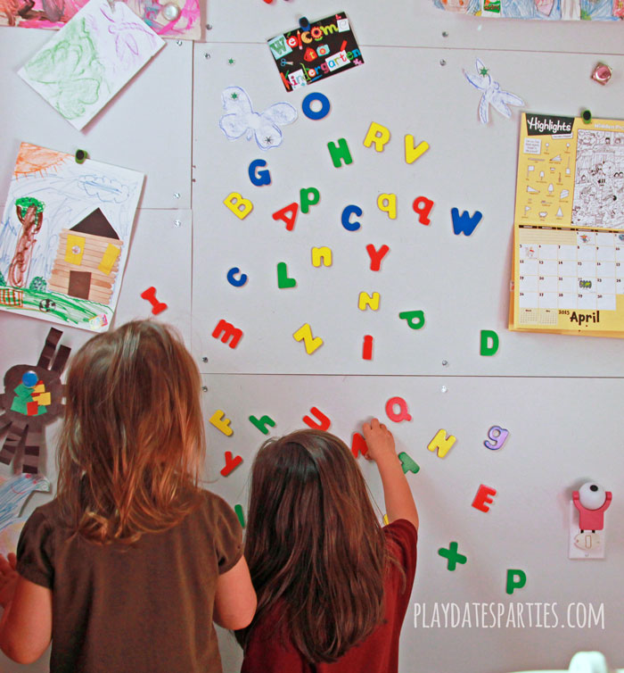 Find out how to make a magnet wall with just a few supplies. Perfect for displaying kids' artwork and magnetic toys.