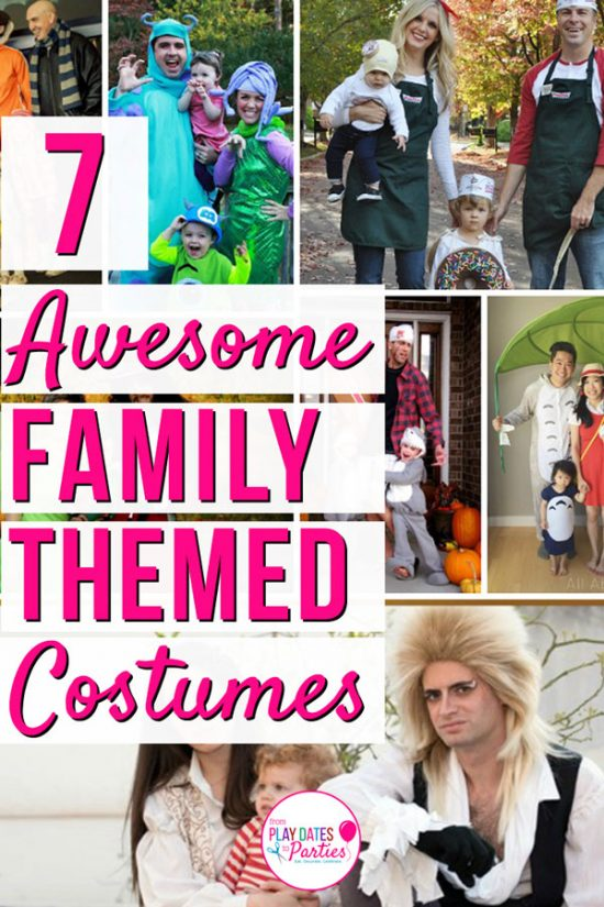 Here are some of the best family Halloween costumes around! Everyone will love these funny DIY costumes that are perfect for 3, for 4, or for families with a baby. #halloween #halloweencostumes #DIY #familycostumes #costumes #family