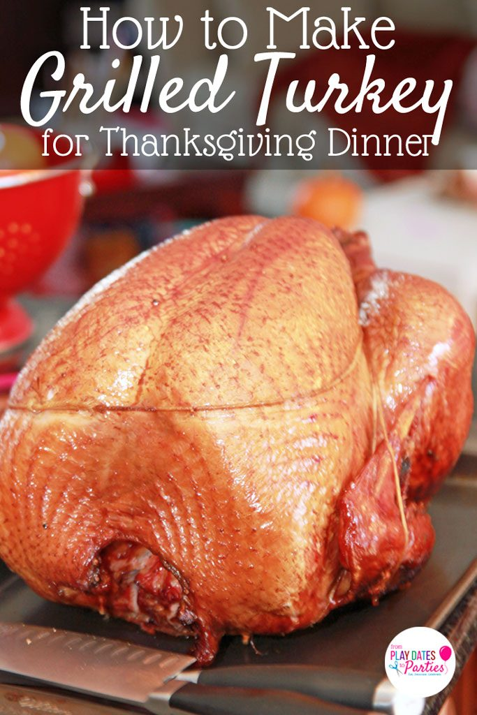Keep your oven and crockpot clear for the side dishes this Thanksgiving and learn how to make a smoked turkey on a charcoal grill. This easy recipe makes the perfect turkey with tender, juicy meat that is amazing for leftovers. You'll never want to make Thanksgiving turkey in the oven again. #easyholidayrecipes #recipes #grilling #grill #thanksgiving #thanksgivingrecipes #turkey #thanksgivingturkey