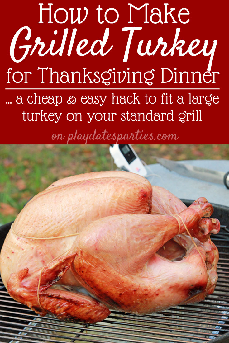 What's the best way to keep your oven clear on Thanksgiving day? Make your Thanksgiving turkey on the grill instead! Leave the crockpot for the mashed potatoes, and learn how to cook a turkey on a charcoal grill for the perfect, juicy turkey dinner. #recipe #dinner #bbq #grillingrecipes #holidays #thanksgivingdinner #holidayrecipes #turkeyday #turkeys #thanksgiving