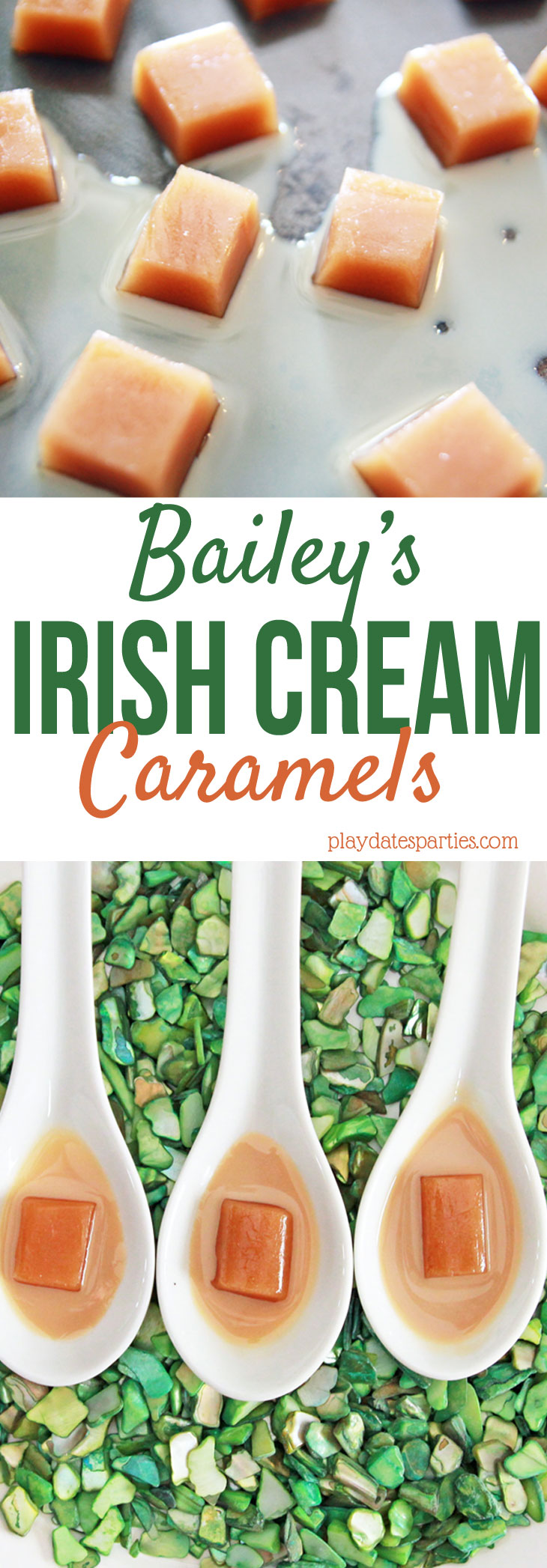 Looking for an AMAZING candy for your holiday get-together? Make a batch of this Bailey's Irish Cream caramels recipe and enjoy a grown up version of this classic candy.