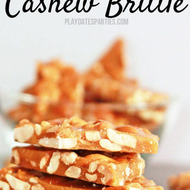Brown Sugar Cashew Brittle