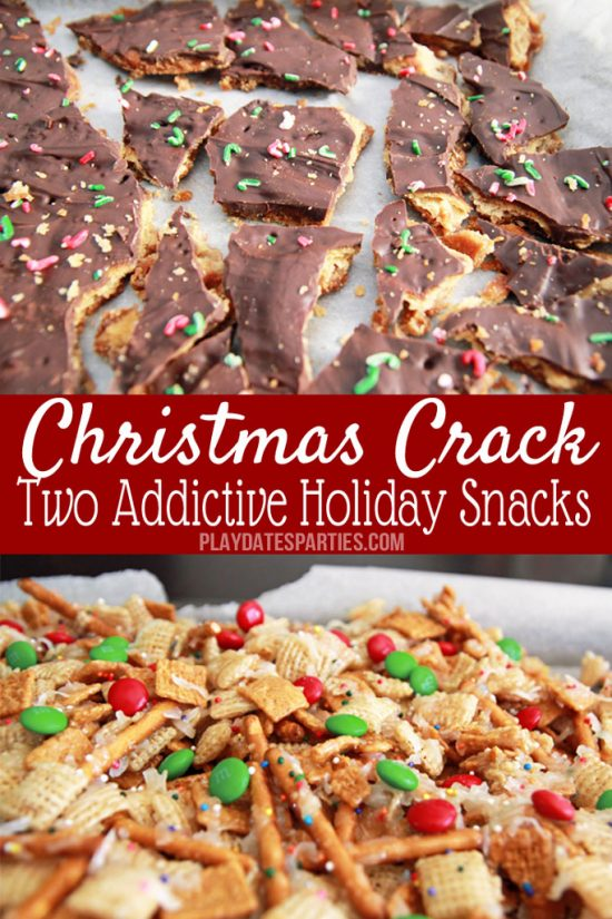 Christmas Crack: Chex Mix Candy and Ritz Cracker Candy