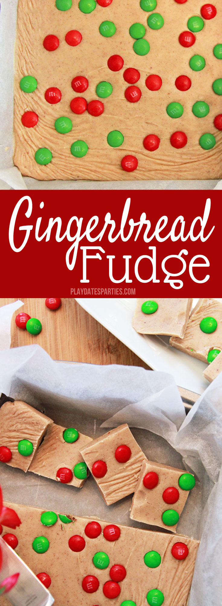 If you love #gingerbread...this fudge #recipe is for you! Best of all, it's so EASY! Smooth and creamy gingerbread fudge is a fantastic way to spice up your #holiday platter this season.