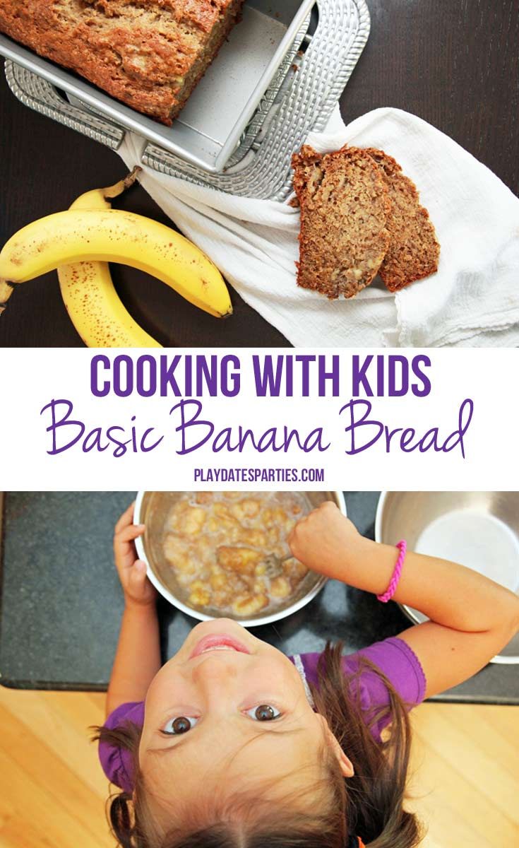 {Cooking with Kids} Basic Banana Bread