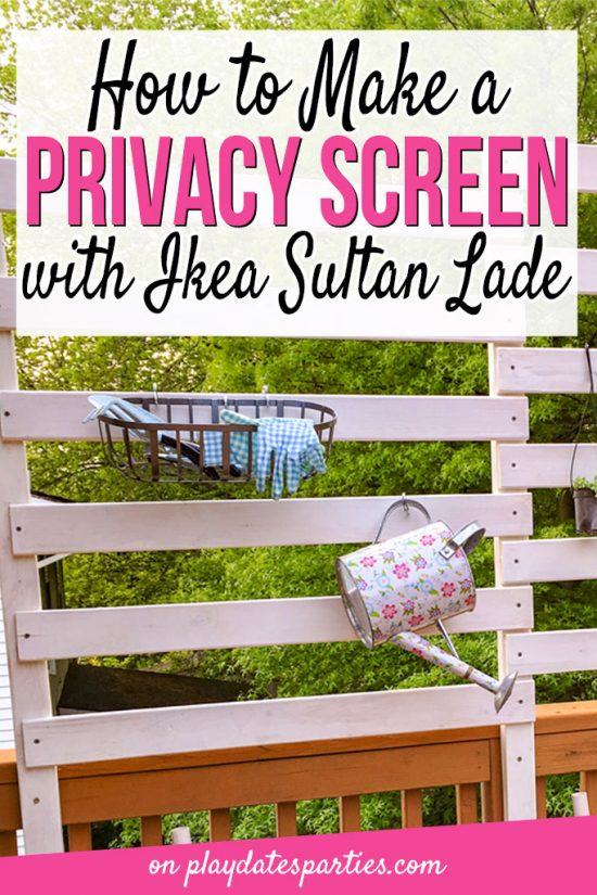 How to Make a Deck Privacy Screen with Ikea Sultan Lade