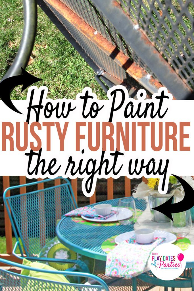 d27101a8375 Don t throw away that old rusty outdoor furniture! Find out how to paint  rusted patio furniture to make it like new again!
