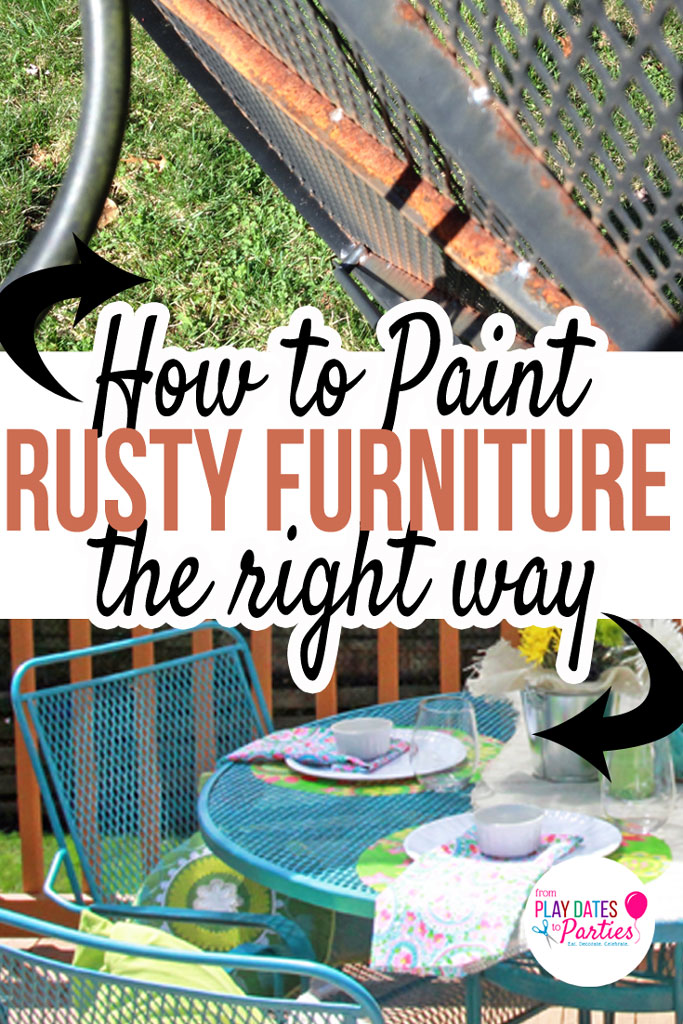 How to Paint Rusted Patio Furniture