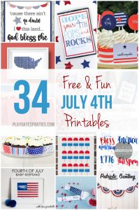 34 Free and Fun July 4th Printables